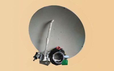 Ilustrasi sistem perangkat antena VSAT 1.2meter KuBand Sulawesi